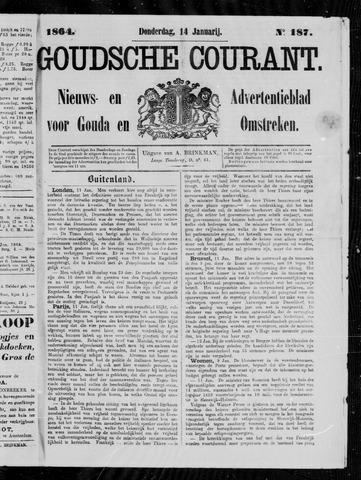Goudsche Courant 1864-01-14