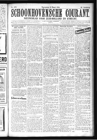 Schoonhovensche Courant 1924-03-19