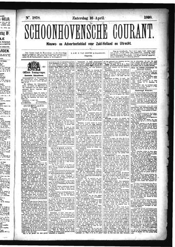 Schoonhovensche Courant 1898-04-16