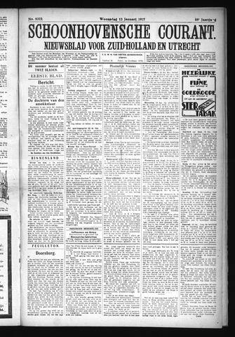 Schoonhovensche Courant 1927-01-12