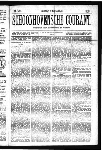Schoonhovensche Courant 1880-09-05