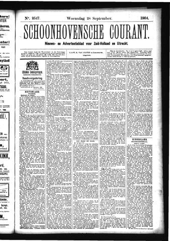 Schoonhovensche Courant 1904-09-28