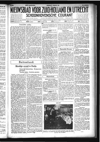 Schoonhovensche Courant 1934-02-07