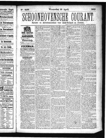 Schoonhovensche Courant 1913-04-23