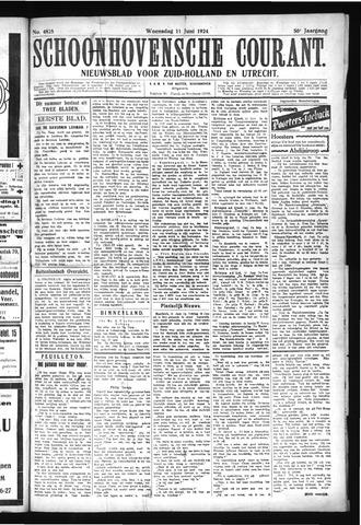 Schoonhovensche Courant 1924-06-11