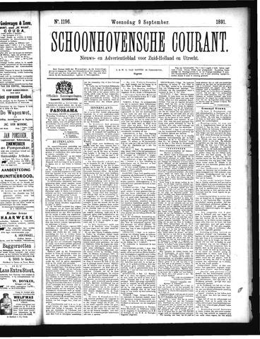 Schoonhovensche Courant 1891-09-09
