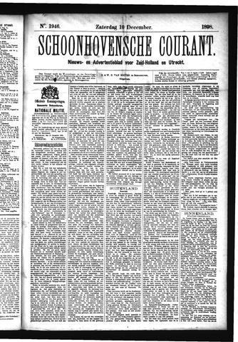 Schoonhovensche Courant 1898-12-10
