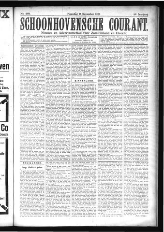 Schoonhovensche Courant 1922-11-27