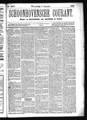 Schoonhovensche Courant 1906-01-03