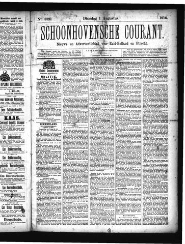 Schoonhovensche Courant 1916-08-01