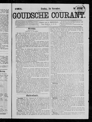 Goudsche Courant 1864-11-20