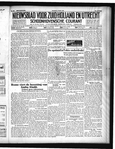 Schoonhovensche Courant 1936-03-02