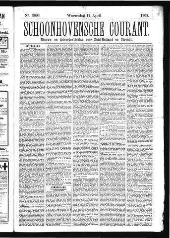 Schoonhovensche Courant 1905-04-12