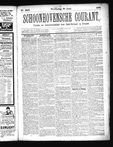 Schoonhovensche Courant 1909-06-30