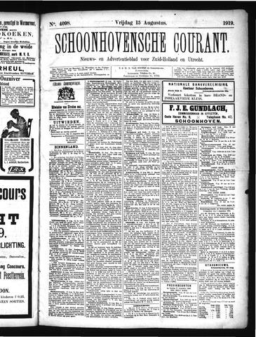 Schoonhovensche Courant 1919-08-15