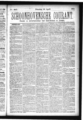 Schoonhovensche Courant 1915-04-20