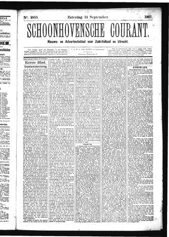 Schoonhovensche Courant 1907-09-14