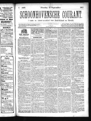 Schoonhovensche Courant 1917-09-11