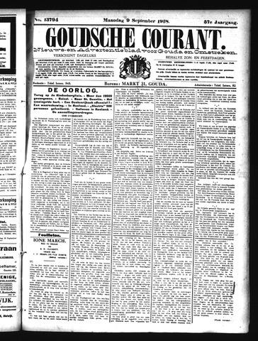Goudsche Courant 1918-09-09