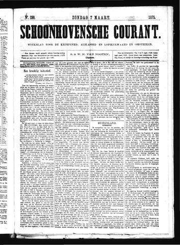 Schoonhovensche Courant 1875-03-07