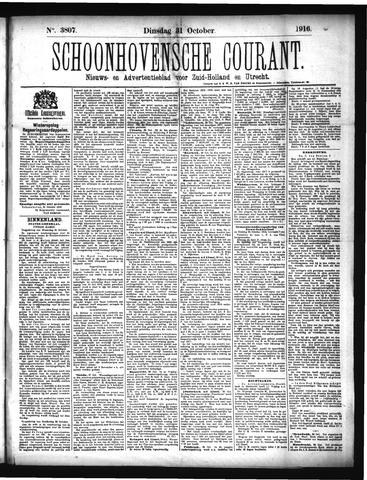 Schoonhovensche Courant 1916-10-31