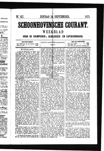Schoonhovensche Courant 1871-09-24