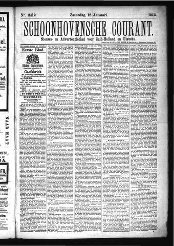 Schoonhovensche Courant 1913-01-18