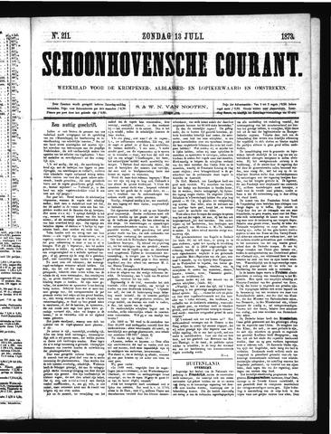 Schoonhovensche Courant 1873-07-13