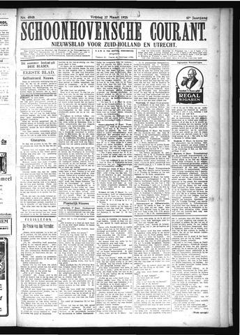 Schoonhovensche Courant 1925-03-27