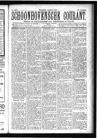 Schoonhovensche Courant 1922-10-04