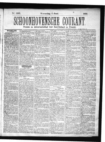 Schoonhovensche Courant 1910-06-01