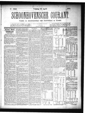 Schoonhovensche Courant 1915-04-16