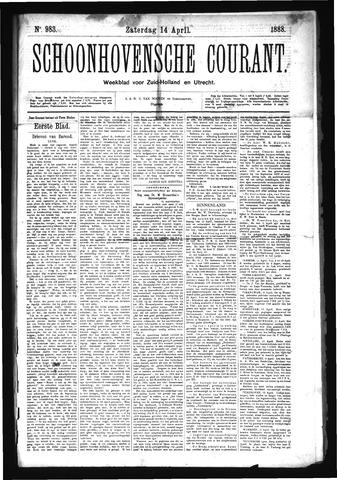 Schoonhovensche Courant 1888-04-14