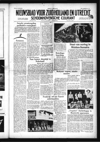 Schoonhovensche Courant 1958-02-14