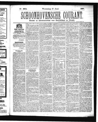 Schoonhovensche Courant 1908-06-17