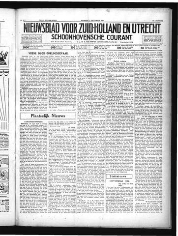 Schoonhovensche Courant 1934-09-03