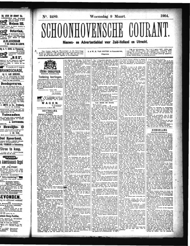 Schoonhovensche Courant 1904-03-09