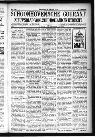 Schoonhovensche Courant 1927-02-16