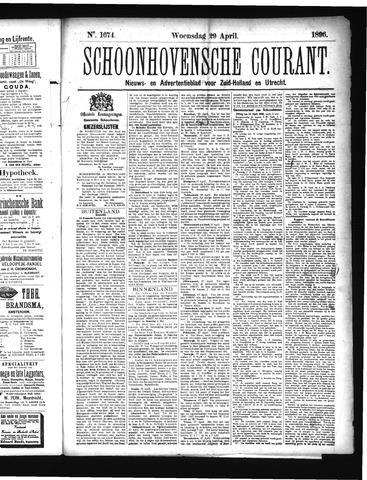 Schoonhovensche Courant 1896-04-29