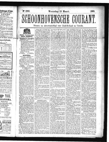 Schoonhovensche Courant 1893-03-15