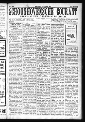 Schoonhovensche Courant 1924-10-08