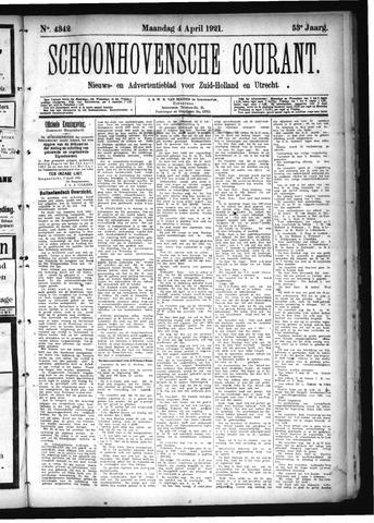Schoonhovensche Courant 1921-04-04