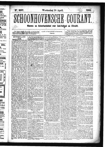 Schoonhovensche Courant 1900-04-18