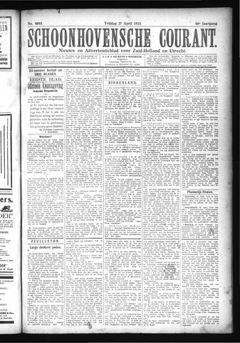 Schoonhovensche Courant 1923-04-27