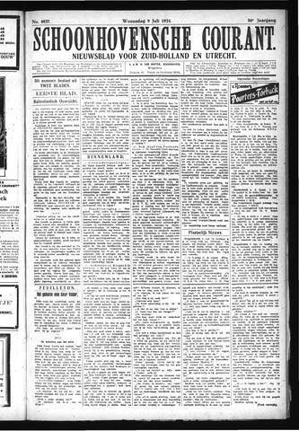 Schoonhovensche Courant 1924-07-09