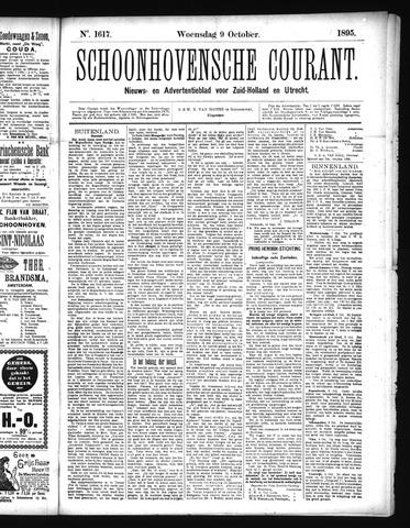 Schoonhovensche Courant 1895-10-09