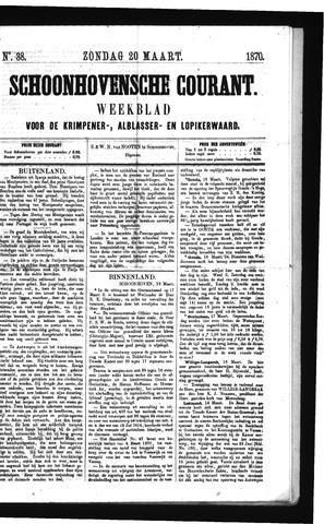 Schoonhovensche Courant 1870-03-20