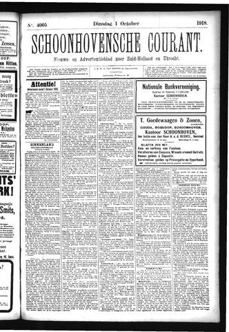 Schoonhovensche Courant 1918-10-01