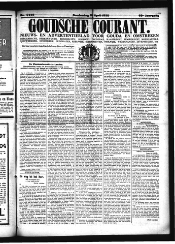 Goudsche Courant 1930-04-10