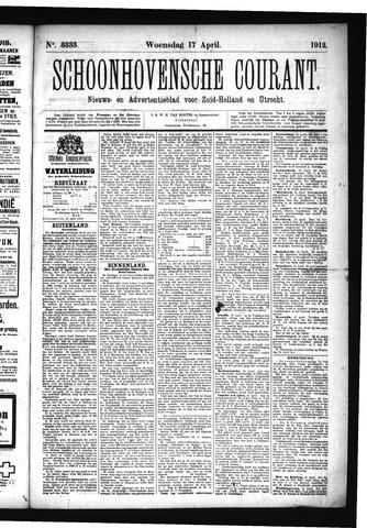 Schoonhovensche Courant 1912-04-17